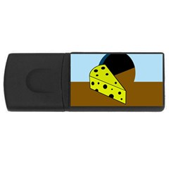 Cheese  Usb Flash Drive Rectangular (4 Gb)  by Valentinaart