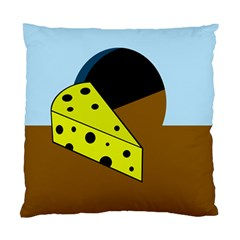 Cheese  Standard Cushion Case (one Side) by Valentinaart