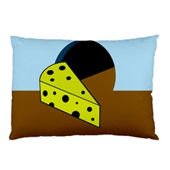 Cheese  Pillow Case by Valentinaart
