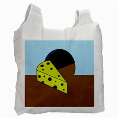 Cheese  Recycle Bag (one Side) by Valentinaart