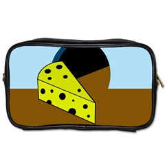 Cheese  Toiletries Bags 2 Side by Valentinaart