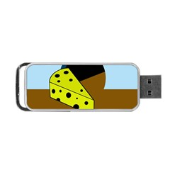 Cheese  Portable Usb Flash (two Sides) by Valentinaart