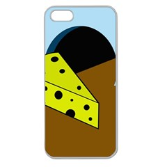 Cheese  Apple Seamless Iphone 5 Case (clear) by Valentinaart