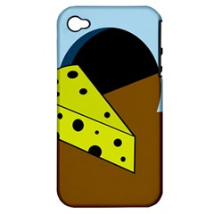 Cheese  Apple Iphone 4/4s Hardshell Case (pc+silicone) by Valentinaart