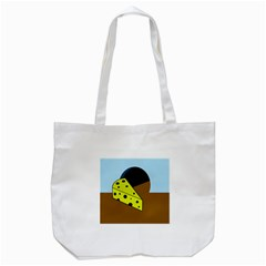 Cheese  Tote Bag (white) by Valentinaart