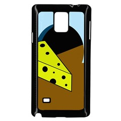 Cheese  Samsung Galaxy Note 4 Case (black) by Valentinaart