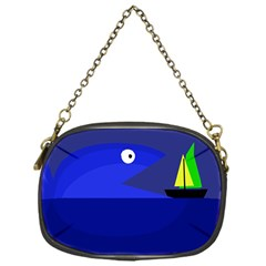 Blue Monster Fish Chain Purses (one Side)  by Valentinaart