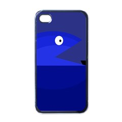 Blue Monster Fish Apple Iphone 4 Case (black) by Valentinaart