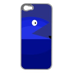 Blue Monster Fish Apple Iphone 5 Case (silver) by Valentinaart
