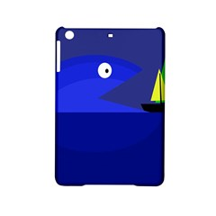 Blue Monster Fish Ipad Mini 2 Hardshell Cases by Valentinaart