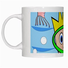 Diver White Mugs by Valentinaart