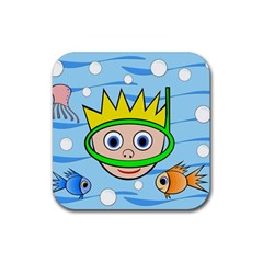 Diver Rubber Coaster (square)  by Valentinaart