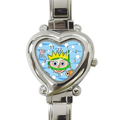 Diver Heart Italian Charm Watch by Valentinaart
