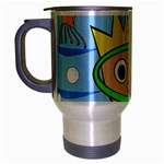 Diver Travel Mug (Silver Gray) Left