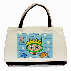 Diver Basic Tote Bag by Valentinaart