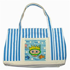Diver Striped Blue Tote Bag by Valentinaart