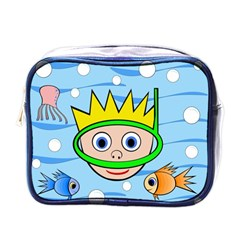 Diver Mini Toiletries Bags by Valentinaart