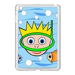 Diver Apple Ipad Mini Case (white) by Valentinaart