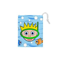 Diver Drawstring Pouches (xs)  by Valentinaart