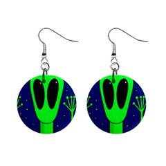 Alien  Mini Button Earrings by Valentinaart