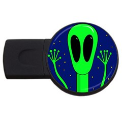 Alien  Usb Flash Drive Round (2 Gb)  by Valentinaart