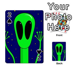 Alien  Playing Cards 54 Designs  by Valentinaart