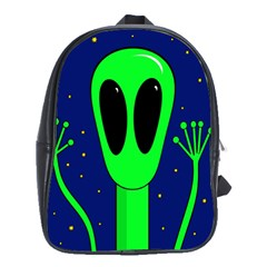 Alien  School Bags(large)  by Valentinaart