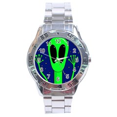 Alien  Stainless Steel Analogue Watch by Valentinaart