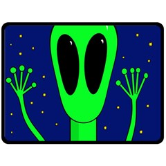 Alien  Double Sided Fleece Blanket (large)  by Valentinaart