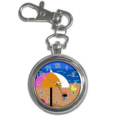 On The Beach  Key Chain Watches by Valentinaart
