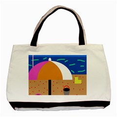 On The Beach  Basic Tote Bag by Valentinaart