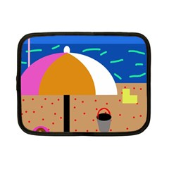 On The Beach  Netbook Case (small)  by Valentinaart