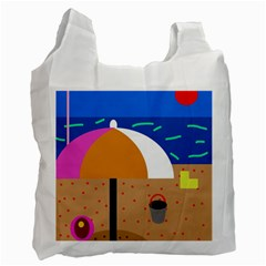 On The Beach  Recycle Bag (two Side)  by Valentinaart