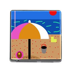 On The Beach  Memory Card Reader (square) by Valentinaart