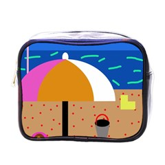 On The Beach  Mini Toiletries Bags by Valentinaart