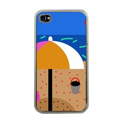 On The Beach  Apple Iphone 4 Case (clear) by Valentinaart
