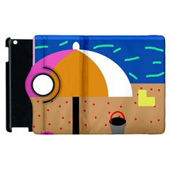 On The Beach  Apple Ipad 3/4 Flip 360 Case by Valentinaart