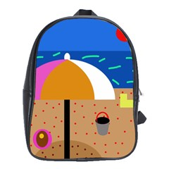 On The Beach  School Bags (xl)  by Valentinaart