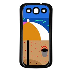 On The Beach  Samsung Galaxy S3 Back Case (black) by Valentinaart