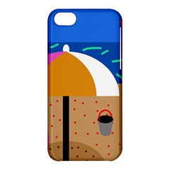 On The Beach  Apple Iphone 5c Hardshell Case by Valentinaart