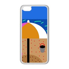 On The Beach  Apple Iphone 5c Seamless Case (white) by Valentinaart