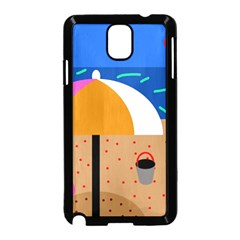 On The Beach  Samsung Galaxy Note 3 Neo Hardshell Case (black) by Valentinaart