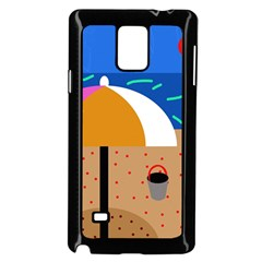 On The Beach  Samsung Galaxy Note 4 Case (black) by Valentinaart