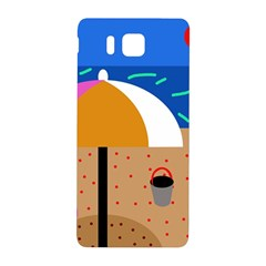 On The Beach  Samsung Galaxy Alpha Hardshell Back Case by Valentinaart
