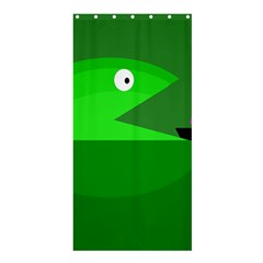 Green Monster Fish Shower Curtain 36  X 72  (stall)