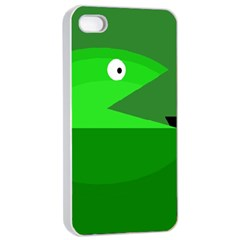 Green Monster Fish Apple Iphone 4/4s Seamless Case (white) by Valentinaart