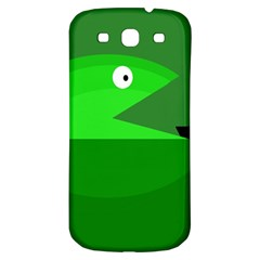 Green Monster Fish Samsung Galaxy S3 S Iii Classic Hardshell Back Case by Valentinaart