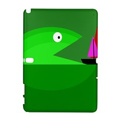 Green Monster Fish Samsung Galaxy Note 10 1 (p600) Hardshell Case by Valentinaart