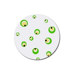 Green Eyes Rubber Coaster (round)