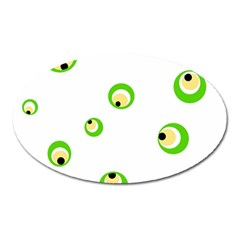 Green Eyes Oval Magnet